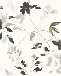 Linden Flower Wallpaper Black by