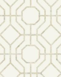 Lanai Trellis Wallpaper Tan by