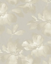 Midnight Blooms Wallpaper Gray by