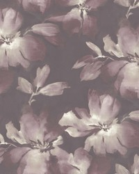 Midnight Blooms Wallpaper Purple by
