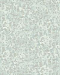 Sumi-E Brushstrokes Wallpaper Spa Blue by