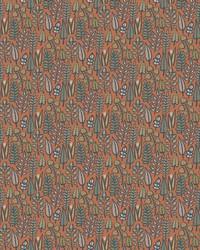 Leaf Life Wallpaper Orange by