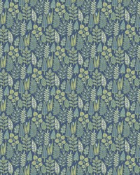 Leaf Life Wallpaper Navy by