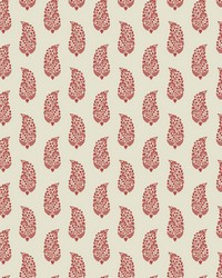 Boteh Paisley Wallpaper Red Cream by