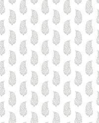 Boteh Paisley Wallpaper Gray by