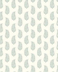 Boteh Paisley Wallpaper Green   Off White by