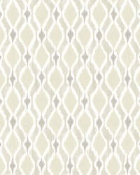 Dyed Ogee Wallpaper Beige by