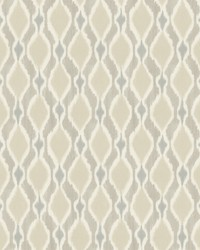 Dyed Ogee Wallpaper Taupe by
