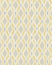 Dyed Ogee Wallpaper Yellow by