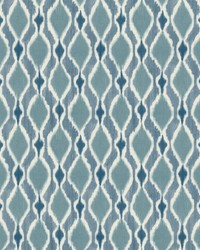 Dyed Ogee Wallpaper Blue by