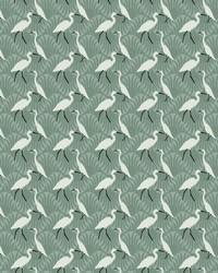 Evening Egret Wallpaper Green by