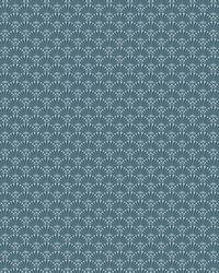 Fan Dance Wallpaper Teal Blue by
