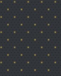 Stella Star Wallpaper Black by