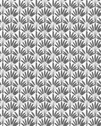 Frond Fan Wallpaper Gray by