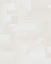 All Lined Up Wallpaper Beige White by
