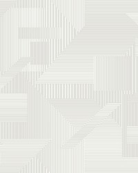 All Lined Up Wallpaper Gray White by