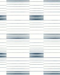 Dashing Stripe Wallpaper Blue White by