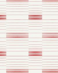 Dashing Stripe Wallpaper Red Coral White by