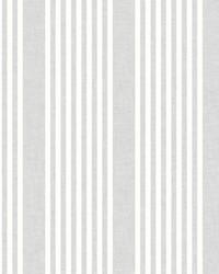 French Linen Stripe Wallpaper Gray by