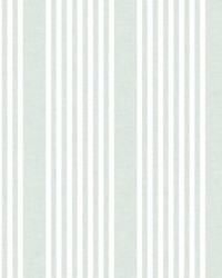French Linen Stripe Wallpaper Green by