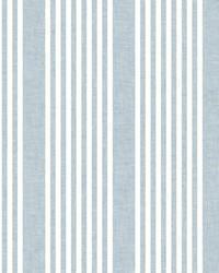 French Linen Stripe Wallpaper Blue by