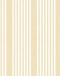 French Linen Stripe Wallpaper Yellow    by
