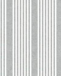 French Linen Stripe Wallpaper Charcoal by