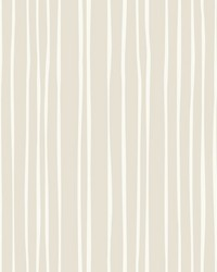 Liquid Lineation Wallpaper Cream by