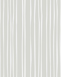 Liquid Lineation Wallpaper Gray Cream by