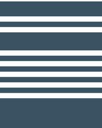 Scholarship Stripe Wallpaper Navy by