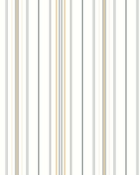 Wide Pinstripe Wallpaper Gray Yellow by