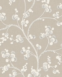 Dahlia Trail Wallpaper Off White by