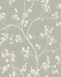 Dahlia Trail Wallpaper Sage by