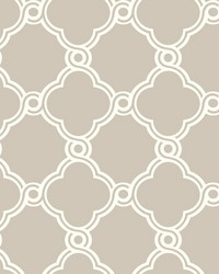 Open Trellis Wallpaper Taupe by
