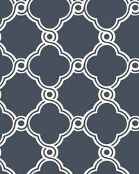 Open Trellis Wallpaper Navy by