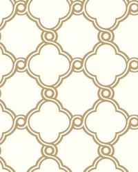 Open Trellis Wallpaper Metallic Gold by