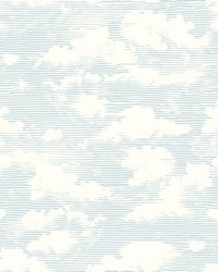 Cloud Cover Wallpaper Blue by