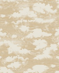Cloud Cover Wallpaper Metallic Gold by