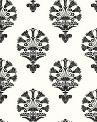 Luxor Wallpaper Black White by
