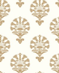 Luxor Wallpaper Metallic Gold by