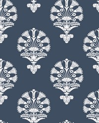 Luxor Wallpaper Navy by