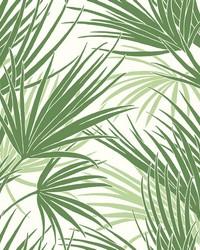 Palmetto Wallpaper Green by