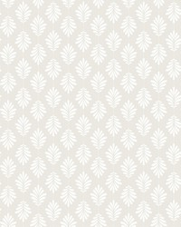 Leaflet Wallpaper White Gray by