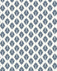Leaflet Wallpaper Navy by