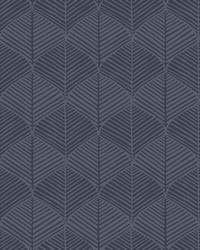 Palm Thatch Wallpaper Navy by