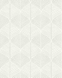 Palm Thatch Wallpaper White Gray by