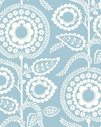 Pomegranate Bloom Wallpaper Blue by
