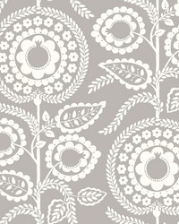 Pomegranate Bloom Wallpaper Gray by