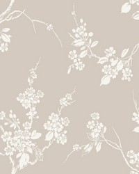 Imperial Blossoms Branch Wallpaper Taupe by