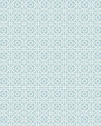 Pergola Lattice Wallpaper Blue by